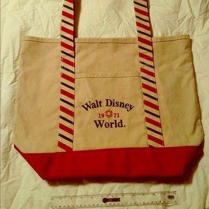 Walt Disney World Canvas Christmas Large Tore Bag